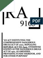 RA 9165 REPORT
