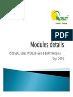 Modules Presentation