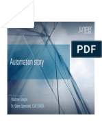 2016-12-06 Juniper Moscow Summit - Automation Story