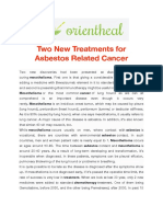 Two New Treatments for Asbestos Related Cancer