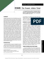 The Female Athlete Triad.26