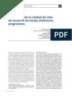 2. Evaluación de la calidad de vida en usuarios de lentes oftálmicas progresivas