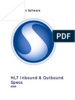 Hl 7 Inbound Outbound Specs