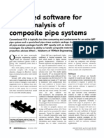 Advanced Software for Stress Analysis of Composite Pipe Systems