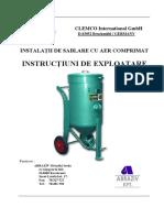 CARTE TEHNICA INSTALATIE SABLARE CU AER COMPRIMAT  TRANSIMONT.pdf