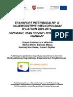 Transport Intermodalny w Województwie Wielkopolskim w Latach 2004-2014.(1)
