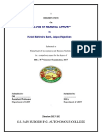 Analysis of Financial Activity
