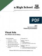 2016 Visual Arts Year 11