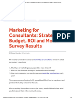 Amount Consultants Spend on Marketing, Most Effective Marketing for Consultants _ Consulting Success