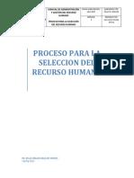 Proceso Para La Seleccion Del Recurso Humano