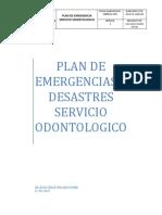 Plan de Emergencias y Desastres Servicio Odontologico