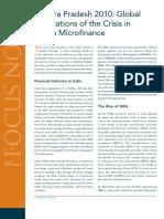 CGAP Focus Note Andhra Pradesh 2010 Global Implications of the Crisis in Indian Microfinance Nov 2010