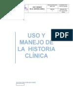 Uso y Manejo de La Historia Clínica
