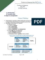 Practicum in Language - LANE 462.- A Brief Summary , Dr. Shadia Y. Banjar