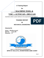 Cnc Training Report (Shubham Gayal)