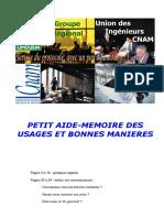 Petit Aide Memoire Des Usages Et Bonnes Manieres