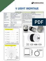 Ficha Tecnica Down Light Montaje 10W 20W y 30W