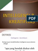 INTELEGENSI & KREATIFITAS