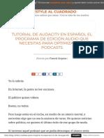 Mega Tutorial de Audacity en español