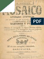 El Mosaico Literario y Epistolar de Bastidos y Puig