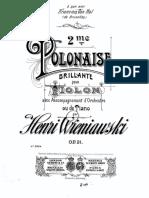 Wieniavski - Polonese Brillante op. 21 - Piano.pdf