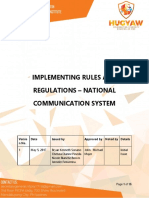NFJPIA1718 National Communication System IRR