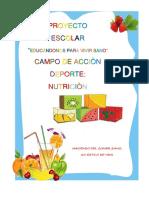 Proyecto Escolar de Nutricion
