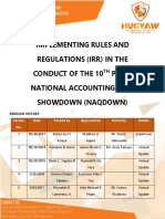Implementing Rules and Regulations Irr in the Conduct of the 10th Picpa National Accounting Quiz Showdown Naqdown