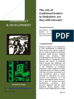 Zimbabwe's Traditional Leadership
