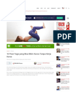 10 Pose Yoga Yang Bisa Bikin Kurus Tanpa Kerja Keras _ IDN Time