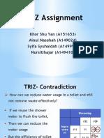 TRIZ Assignment