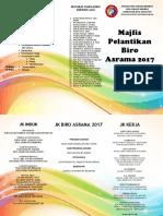Pamflet Aturcara Pelantikan Biro 2017