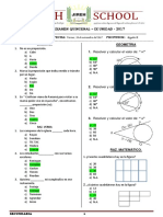 4° primaria  - Modelo de examen quincenal