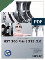 Manual Hst 300 Electrofuziune