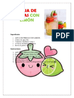 Agua de Fresas Con Limón