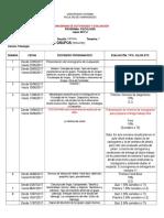 Cronograma de Evaluación