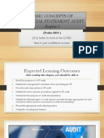Basic Concepts of Financial Statement Audit