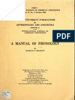 Charles Hockett Manual of Phonology