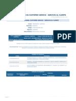 Perfil Competencia Customer Service - Servicio Al Cliente