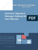 Signature Manager Outlook Edition User Manual Worldwide