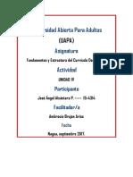 Tarea IV de Fundamentos y Estructura Del Curriculo