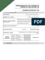 Planificación Licencia en Prevención de Riesgos Electricos