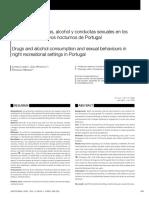 Consumo de Alcohol, Drogas y Conductas Sexuales en Los Ambientes Recreativos Nocturnos en Portugal