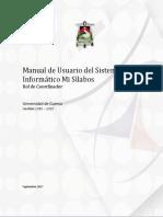 Manual de Usuario Del Sistema Informático Mi Sílabos