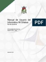 Manual de Usuario Del Sistema Informático Mi SílabosRolDocente