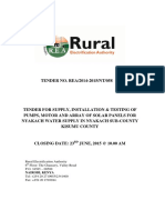 Rural Elect. Authority - Tender for Juja