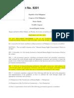 Republic Act No 9201 Human Rights Week
