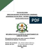 Implementacion de Un Centro de Adiestramiento de Canes en Yacuiba