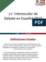 Capacitación Debate UNAB