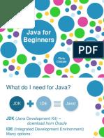 Java for Beginners Level 0 Setup